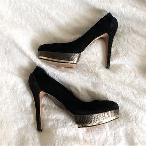 Vince Camuto Suede and Spike Heels